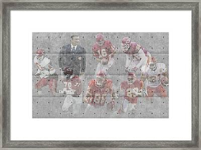 Kansas City Chiefs Legends Framed Print by Joe Hamilton