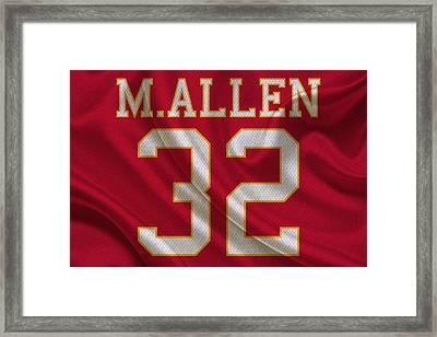 Kansas City Chiefs Marcus Allen Framed Print by Joe Hamilton