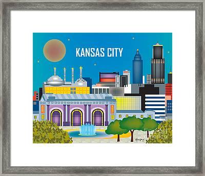 Kansas City Framed Print by Karen Young