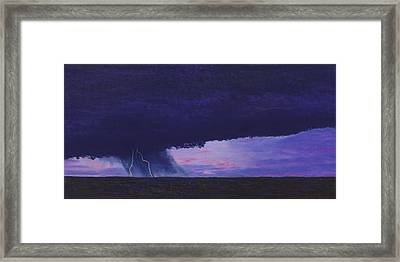Kansas Lightning Storm Framed Print by Garry McMichael