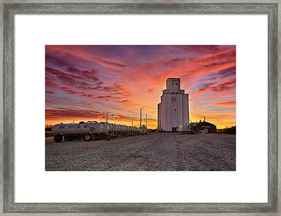 Kansas Skyfire Framed Print by Thomas Zimmerman