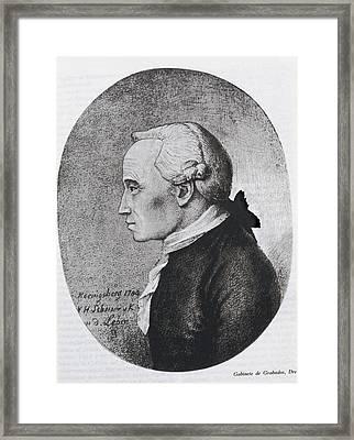 Kant, Emmanuel 1724-1804. German Framed Print by Everett