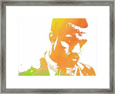 Kanye West Pop Art Framed Print by Dan Sproul