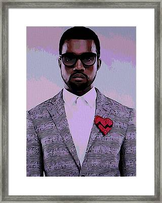 Kanye West Poster Framed Print by Dan Sproul