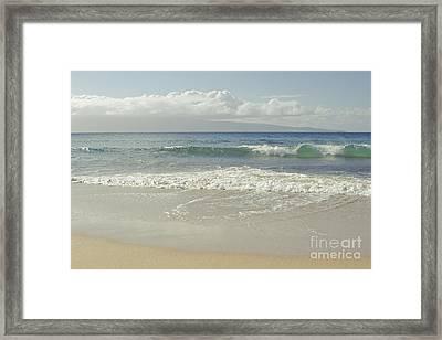 Kapalua - Aia I Laila Ke Aloha - Honokahua - Love Is There - Mau Framed Print by Sharon Mau