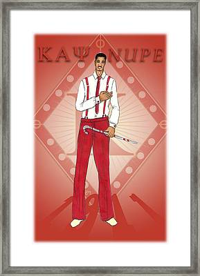 Kappa Alpha Psi Framed Print by BFly Designs