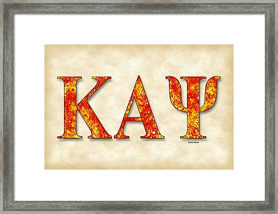 Kappa Alpha Psi - Parchment Framed Print by Stephen Younts