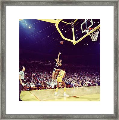 Kareem Abdul Jabbar Great Shot Framed Print by Retro Images Archive