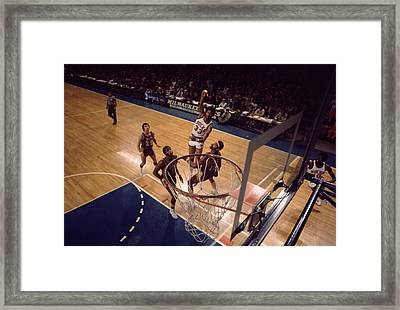 Kareem Abdul Jabbar Hook Shot  Framed Print by Retro Images Archive