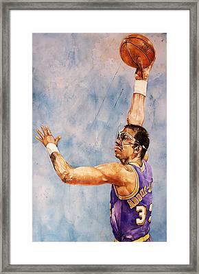 Kareem Abdul Jabbar Framed Print by Michael  Pattison