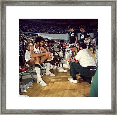Kareem Abdul Jabbar Resting Framed Print by Retro Images Archive