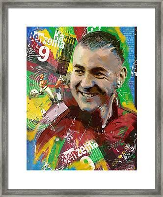 Karim Benzema Framed Print by Corporate Art Task Force