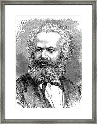 Karl Marx Framed Print by Collection Abecasis