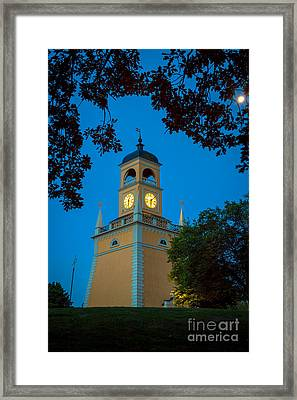 Karlskrona Clocktower Framed Print by Inge Johnsson