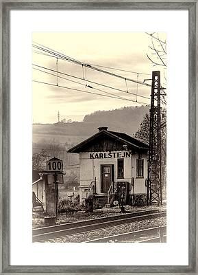 Karlstejn Railroad Shack Framed Print by Joan Carroll