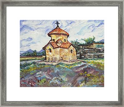 Karmravor Church Vii Century Armenia Framed Print by Helena Bebirian
