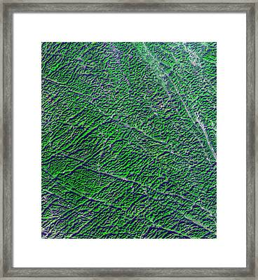 Karst Landscape Framed Print by Nasa/gsfc/meti/ersdac/jaros, Us-japan Aster Science Team