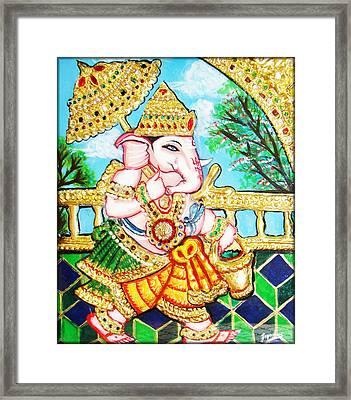 Kasi Yatra Ganesh Framed Print by Jayashree