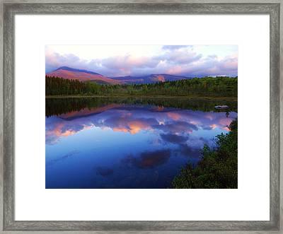 Katahdin Alpenglow Framed Print by Tim  Canwell