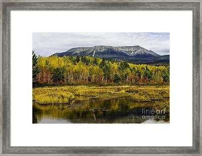 Katahdin Baxter State Park Maine Framed Print by Glenn Gordon