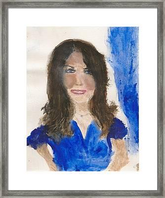 Kate Middleton Framed Print by Angela Rose
