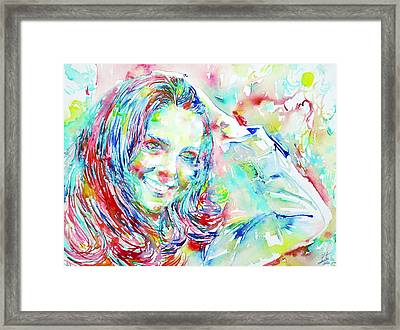 Kate Middleton Portrait.1 Framed Print by Fabrizio Cassetta