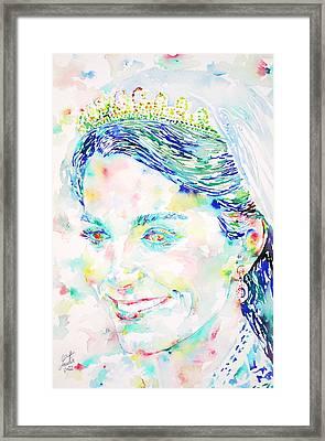 Kate Middleton Portrait.2 Framed Print by Fabrizio Cassetta