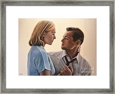 Kate Winslet And Leonardo Dicaprio Framed Print by Paul Meijering