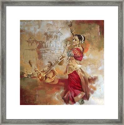 Kathak Dancer 8 Framed Print by Corporate Art Task Force