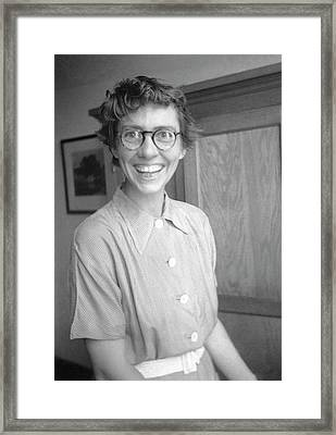 Katharine Way Framed Print by Emilio Segre Visual Archives/american Institute Of Physics