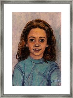 Kathleen Mahin Framed Print by Kendall Kessler