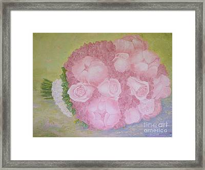 Katie's Wedding Bouquet Framed Print by Paul Galante