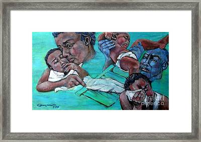 Katrina And The Days That Followed Three Framed Print by Grace Liberator