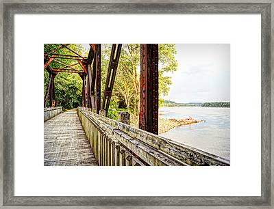 Katy Trail Near Coopers Landing Framed Print by Cricket Hackmann
