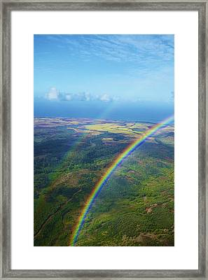 Kauai Double Rainbow Framed Print by Kicka Witte