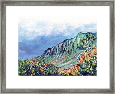 Kauai Kalalau Valley Framed Print by Marionette Taboniar
