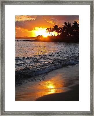 Kauai Sunset Framed Print by Shane Kelly