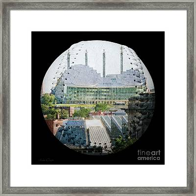 Kauffman Center For The Performing Arts Square Baseball Framed Print by Andee Design