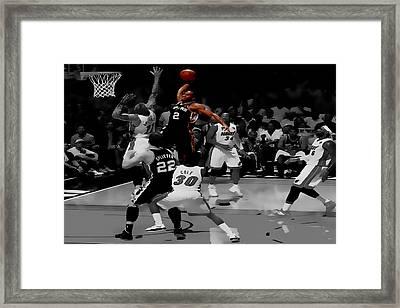 Kawhi Leonard Monster Slam Framed Print by Brian Reaves