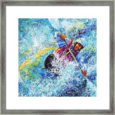 Kayak Crush Framed Print by Hanne Lore Koehler