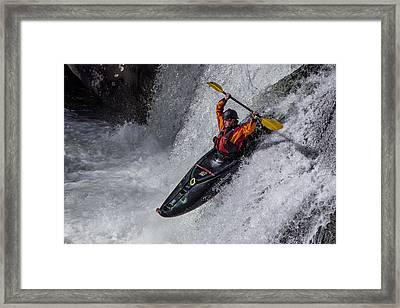 Kayaker Framed Print by Debra and Dave Vanderlaan