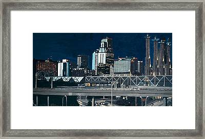 Kc At Dusk Framed Print by Patricio Lazen