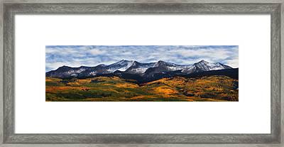 Kebler Pass Fall Colors Framed Print by Darren  White