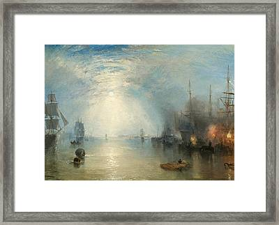 Keelmen Heaving In Coals By Moonlight Framed Print by Joseph Mallord William Turner