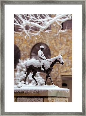 Keeneland In Winter Framed Print by Sid Webb