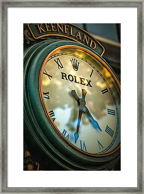 Keeneland Time Framed Print by CarolLMiller Photography