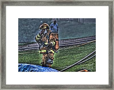 Keep Fire In Your Life No 5 Framed Print by Tommy Anderson