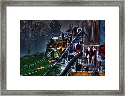 Keep Fire In Your Life No 6 Framed Print by Tommy Anderson