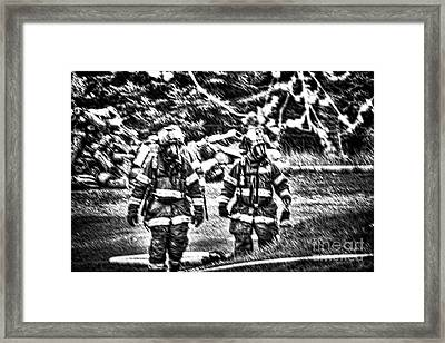 Keep Fire In Your Life No 7 Framed Print by Tommy Anderson