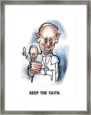 Keep The Faith Framed Print by Mark Armstrong